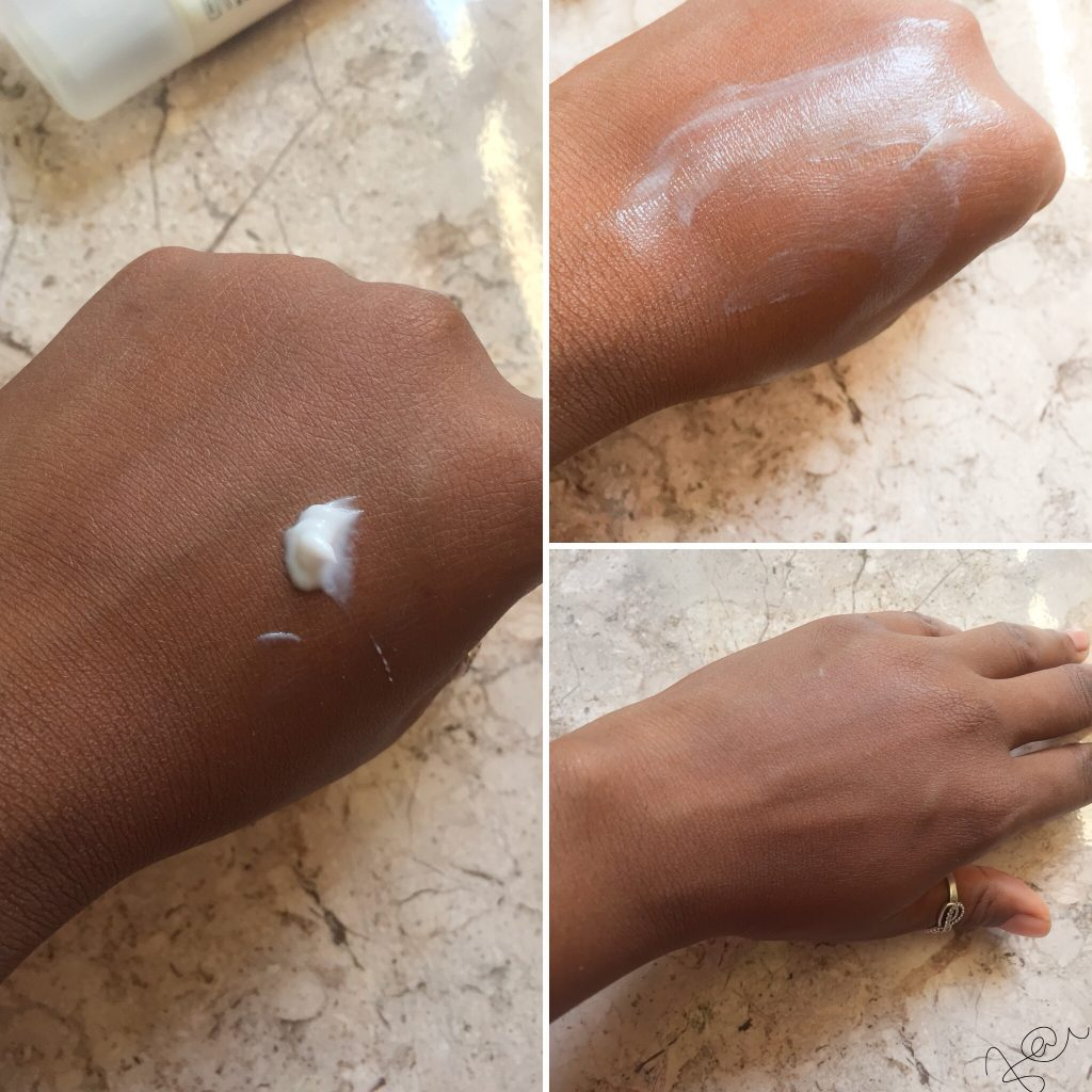 consistency of moisturizer