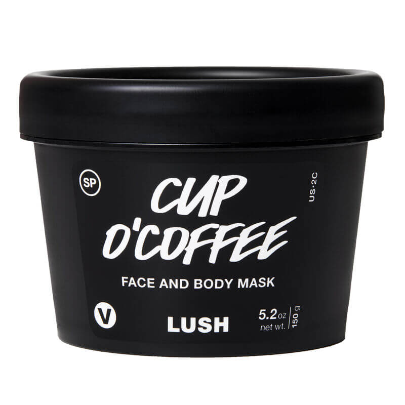 lush cup o'Coffee face & body mask